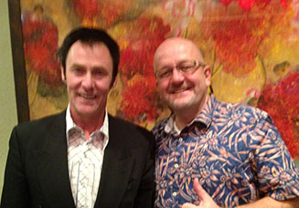 World Class Magician Lance Burton and long time buddy Al The Only.